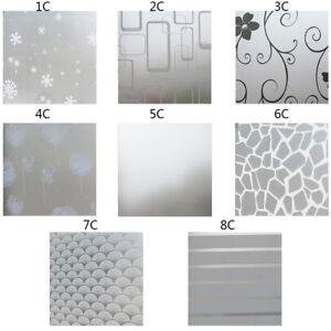 200x60cm Bedroom Bathroom Glass Window Privacy Film Sticker Pvc Frosted Decor Ebay