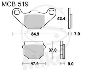 TRW Lucas brake pads mcb519 Front adly/Herchee ATV 150 S