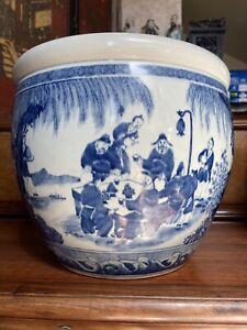 Chinese Antique Porcelain Fishbowl Qing China Asian