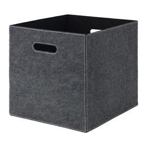 Détails Sur Ikea Bladdra Gris Feutre Boîte De Rangement Pour Kallax Expedit Unité Afficher Le Titre Dorigine