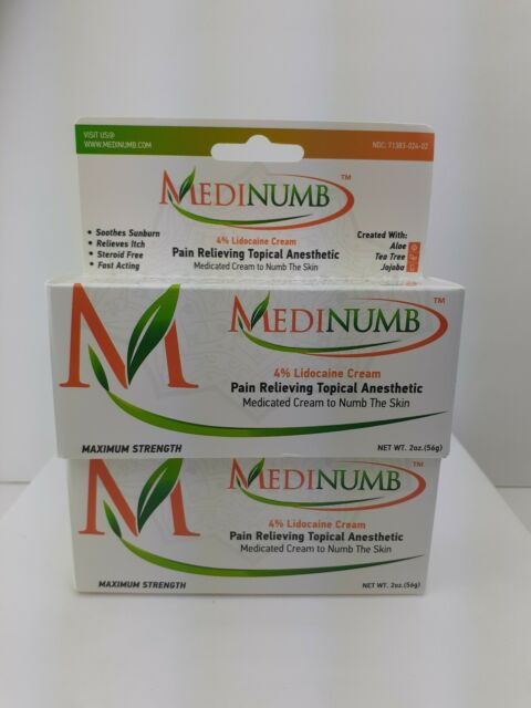 2 pack Medinumb Lidocaine Numbing Cream (2oz/56g) Topical ...