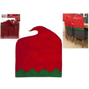 christmas elf chair covers gaming chairs target 2 x felt back dining room party stretch image is loading