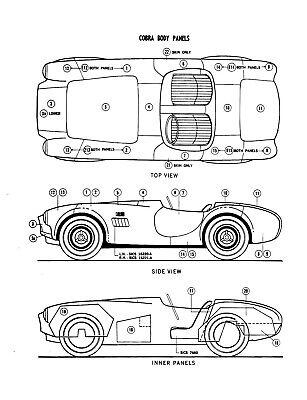 Shelby Ford Cobra Parts Catalog 1963 1964 1965 1966 1967