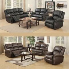 Gold Leather Sofa Set Best Sectional Recliner Loveseat Couch 3 2 1 Seater W Cup Image Is Loading