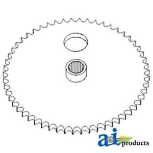 87450164 Sprocket Auger Driven Fits Case-IH Cutting