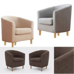 Single Sofa Chair Modern Beds Canada Small Linen Tub Chairs Footrest Bedroom Dining Room Image Is Loading