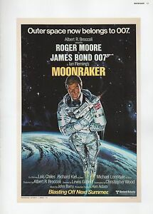 """2002 Vintage James Bond """"outer Space Now Belongs To 007"""