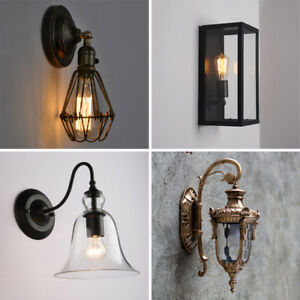 kitchen wall lights repainting cabinets bedroom industrial lamp bar indoor glass image is loading