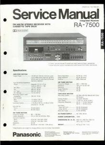 Orig Factory Technics/Panasonic RA-7500 FM/AM Stereo