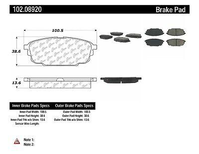 Disc Brake Pad Set fits 2001-2003 Mazda Protege Protege5 C
