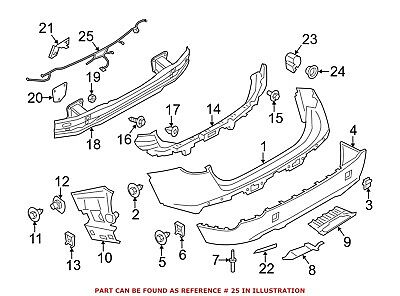 For BMW Genuine Parking Aid System Wiring Harness Rear