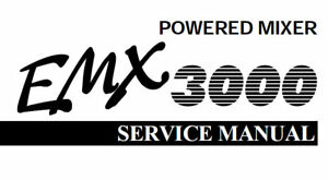 YAMAHA EMX3000 POWERED MIXER SERVICE MANUAL BOOK INC