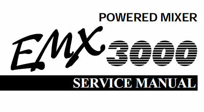 YAMAHA EMX3000 POWERED MIXER SERVICE MANUAL BOOK INC
