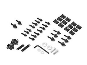 Motorcycle Spike Fairing Bolts Black Kit For 1998-2003