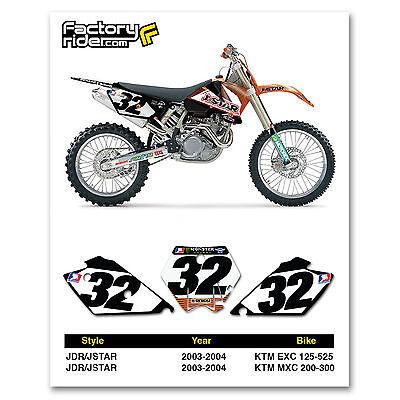 2003-2004 KTM EXC & MXC Dirt Bike Graphics Motocross