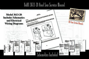 DoAll 3613-20 Band Saw Owners Service Manual Parts Lists