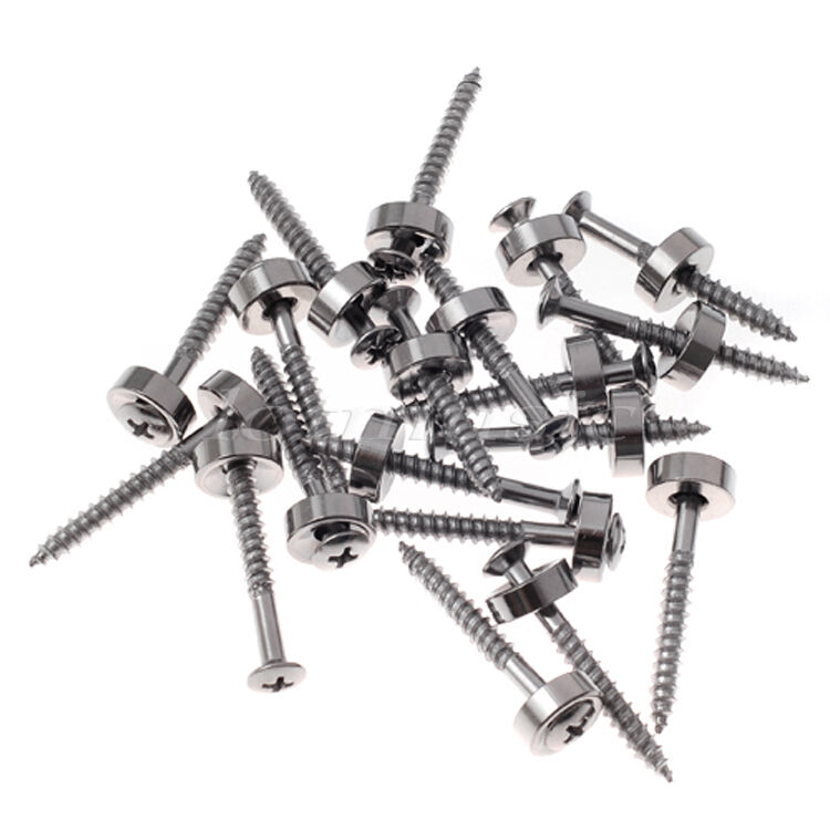 50pcs Neck Mounting Ferrules and 50pcs Screws Chrome New