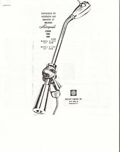 Rek-O-Kut Micropoise Tone Arm Owners Manual (COPY). Money