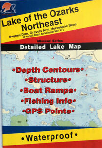 Lake Of The Ozarks Fishing Map : ozarks, fishing, Ozarks, Northeast, Detailed, Fishing, Points,, Waterproof, #L160, 71365301606
