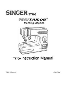 Singer TT700 Sewing Machine/Embroidery/Serger Owners