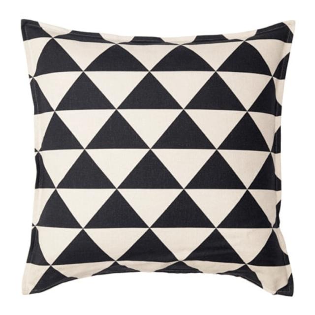 ikea asia johanne cushion cover natural black 703 929 38
