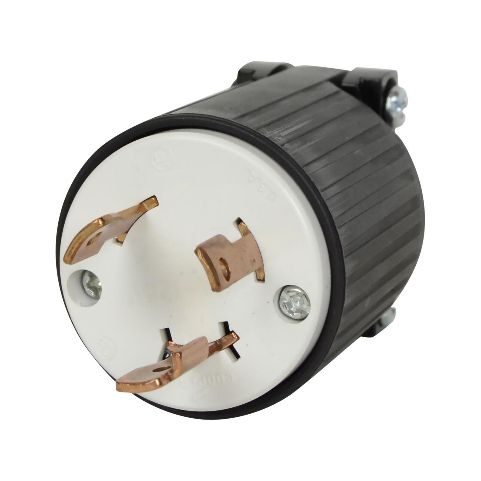 hight resolution of black l5 30p flanged power inlet generator rv plug 125 volt receptacle 30amp for sale online ebay