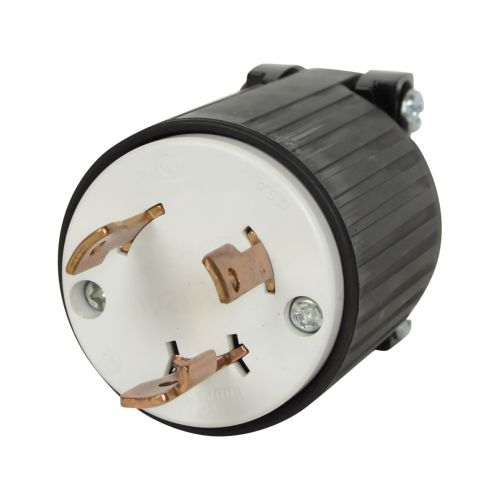 small resolution of black l5 30p flanged power inlet generator rv plug 125 volt receptacle 30amp for sale online ebay