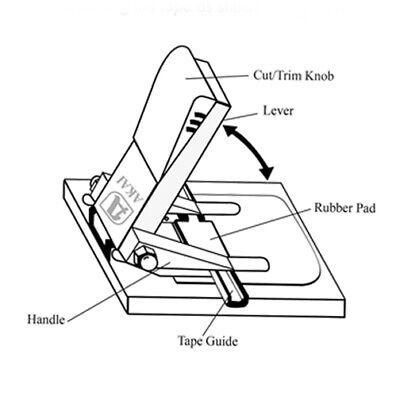 AKAI 1/4 inch Reel to Reel Tape Splicer AS-3 Step by Step