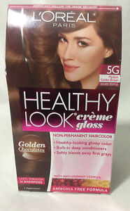 l oreal healthy look gloss hair color medium golden brown golden truffle 5g ebay