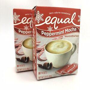 2 Boxes of Equal PEPPERMINT MOCHA Zero Calorie Sweetener ...