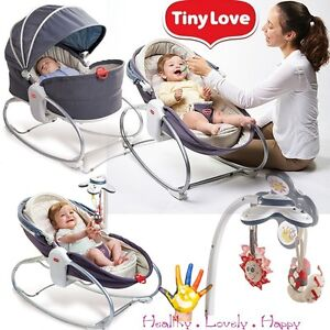 baby sleeping chair folding shower with back tiny love 3 in 1 rocker napper feeding vibrating image is loading