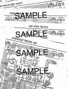 1957 FORD HEAVY DUTY TRUCKS 6 CYLINDER V-8 57 WIRING GUIDE