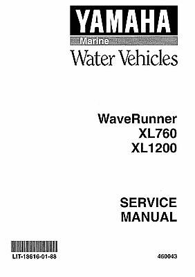 Yamaha WaveRunner service manual 1999 XL700, XL760