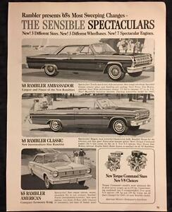 1965 Rambler : rambler, Original, RAMBLER, Vintage, Advertisement, AMERICAN, Classic, AMBASSADOR