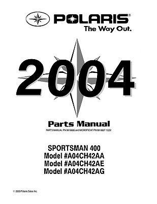 2004 POLARIS SPORTSMAN 400 SERVICE REPAIR PARTS MANUAL