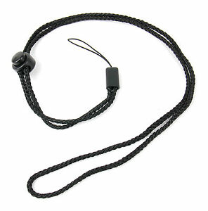 Digital Camera Soft Black Neck Carry Strap Suits Panasonic