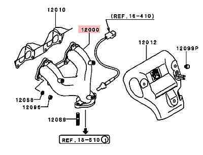 Exhaust Manifold 1997 1998 1999 2000 Mitsubishi Mirage 1