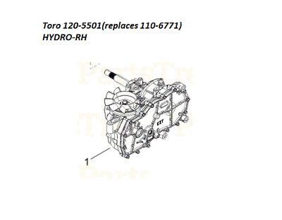 HYDRO GEAR RH ,ZC-AUBB-5W5A-2BPX,ZC-AFBB-5W5A-2CPX,ZC-AUBB