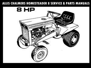 ALLIS CHALMERS HOMESTEADER 8 SERVICE & PARTS MANUALs for