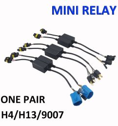easy relay harness for h4 h13 9007 hi lo bi xenon hid bulbs wiring 9007 hid bulb wiring [ 1000 x 1000 Pixel ]