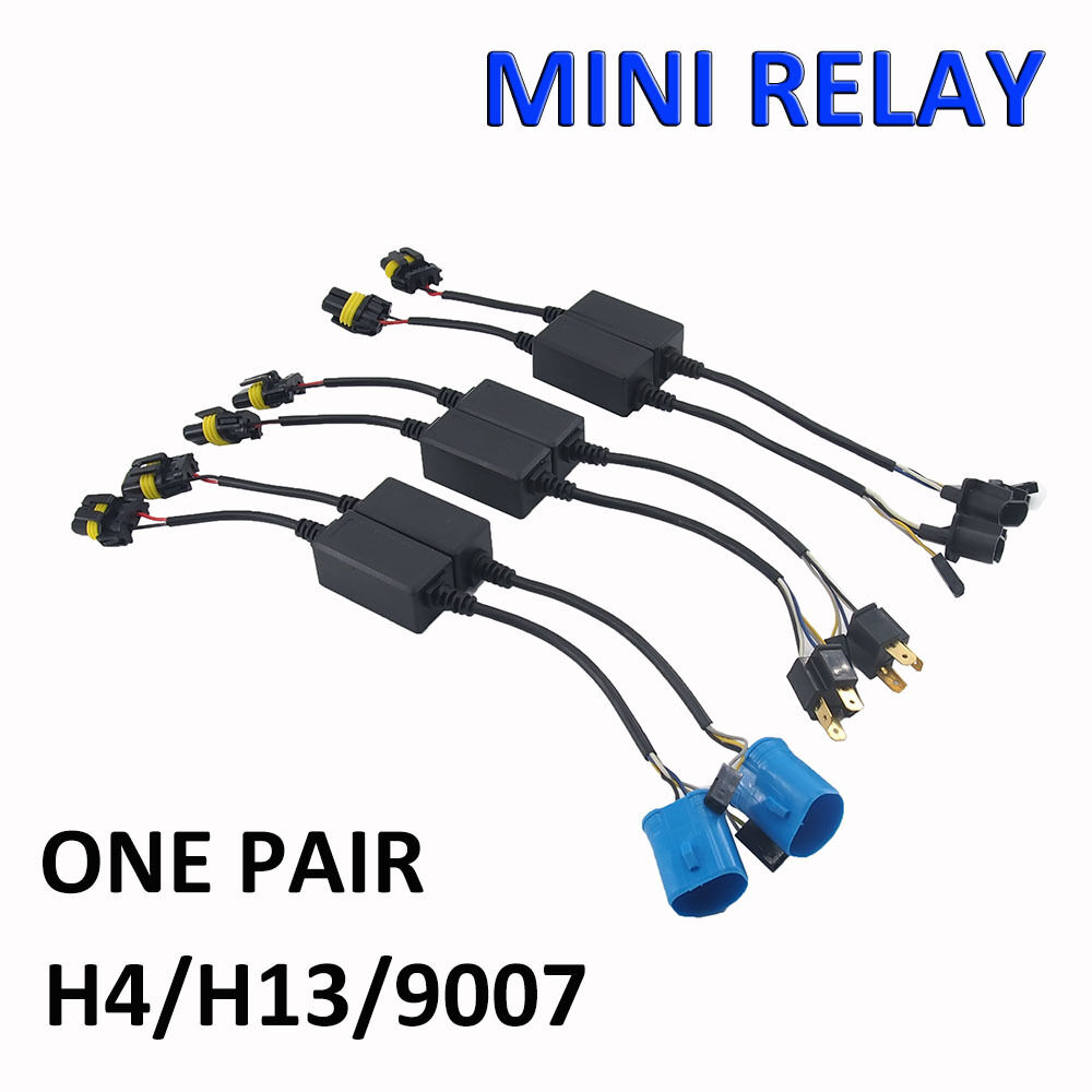 hight resolution of easy relay harness for h4 h13 9007 hi lo bi xenon hid bulbs wiring 9007 hid bulb wiring