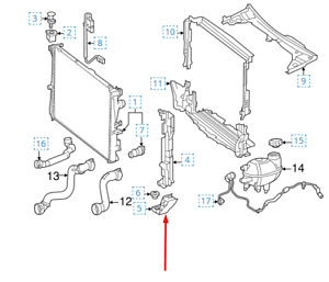 MERCEDES-BENZ C-CLASS W205 Radiator Right Lower Bracket