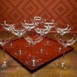 Waterford Crystal Elegance Champagne Belle Coupe Glasses Set Of 10 Pristine For Sale Online