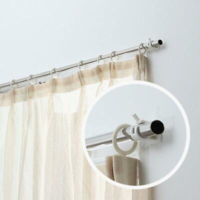 1pair curtain rod brackets no drill adjustable stick fixed clip holder rack hook ebay