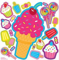 SWEET TREATS wall stickers 19 decals party wall decor ...