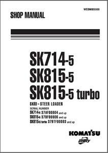 Komatsu SK714-5 / SK815-5 / SK815-5 Turbo Skid Steer