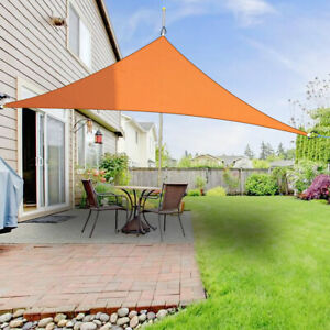 details about garden sun sail shade awning canopy triangle sun cover patio sunscreen 5m orange