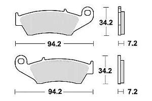 Set 2 front brake pad quality kawasaki klx 650/r 1993