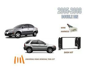 Fits 2005-2008 KIA RIO, RIO5, SPORTAGE Car Stereo Double