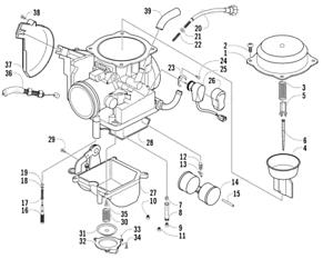 Carburetor/Carb Arctic Cat 2008-2009 ATV 4X4 TRV AUTOMATIC